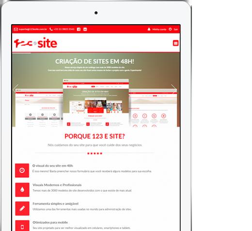 Site para tablet