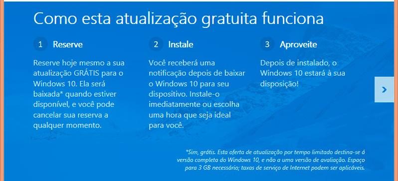 Windows 10. Reserve o seu, é de graça! Saiu da data de lançamento.