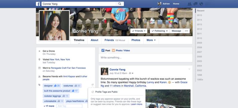 O Facebook vai taguear você!