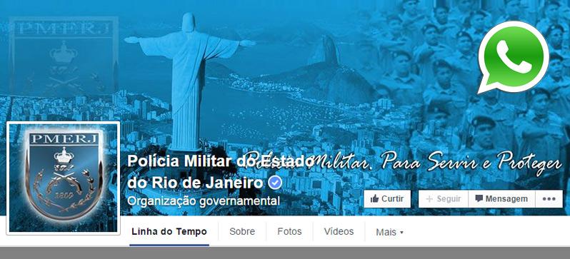 PM do Rio aposta em Whatsapp e Facebook para denúncias